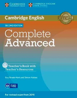 COMPLETE ADVANCED 2ND ED. TEACHER'S BOOK WITH CD-ROM