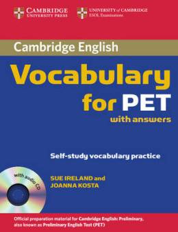 VOCABULARY FOR PET WITH KEY & AUDIO CD