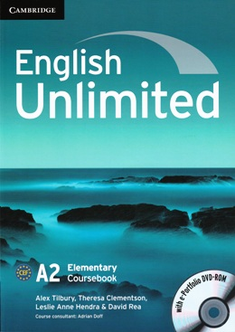 ENGLISH UNLIMITED ELEMENTARY COURSEBOOK WITH E-PORTFOLIO DVD