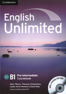 ENGLISH UNLIMITED PRE-INTER. COURSEBOOK WITH E-PORTFOLIO DVD