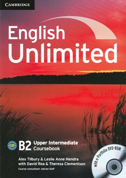 ENGLISH UNLIMITED UPPER INT. COURSEBOOK WITH E-PORTFOLIO DVD