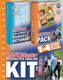LANGMASTER INTERACTIVE ENGLISH KIT BEGINNER (SET 5 CD)